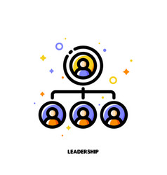 team leadership icon for corporate management vector image
