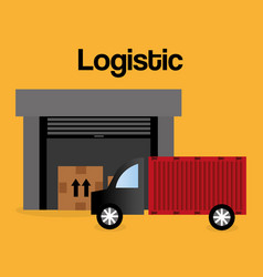 truck logistic service icon vector image