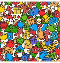 Web new year 2017 pattern trend vector image