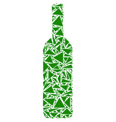Wine bottle collage of triangles vector