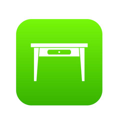 wooden table icon digital green vector image