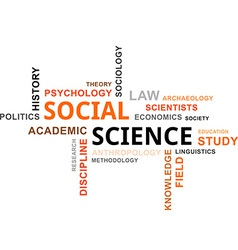 Word cloud social science vector