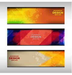 banner header design vector image vector image