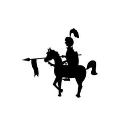 black rider on a horse vector image