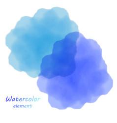 blue watercolor blotch set of blue watercolor vector image