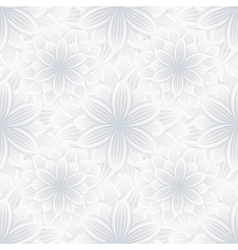Floral seamless pattern with flower chrysanthemum vector image vector image
