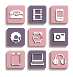 Icons of different vector image vector image
