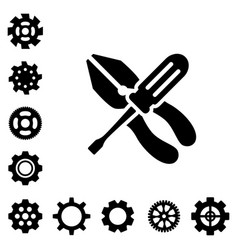 service tools icons vector image vector image