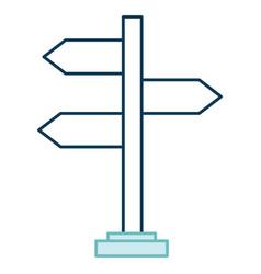 wooden arrows guide label vector image