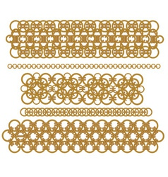 chains of gold rings vector image