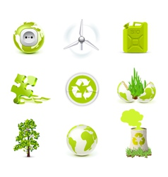 environmental icons - bella series vector image vector image