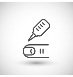Medical analysis icon vector image