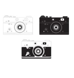 Retro camera in different design options vector image vector image