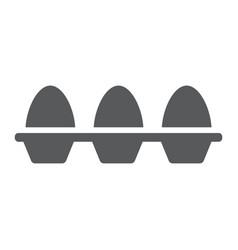 eggs in carton package glyph icon farming vector image vector image
