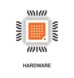 hardware icon concept vector image