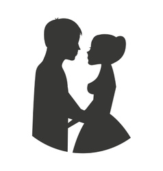 Married couple isolated icon design vector image