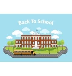 School building Background with graduation vector image