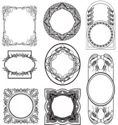 set vintage frame vector image