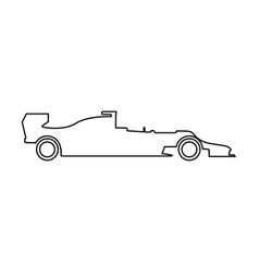 silhouette of a racing car icon vector image vector image