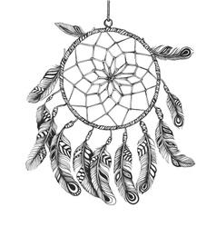 American Indian dreamcatcher of shaman vector image vector image