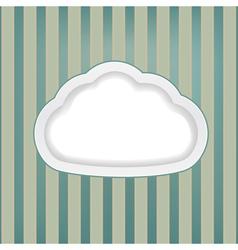 cloud retro background vector image vector image