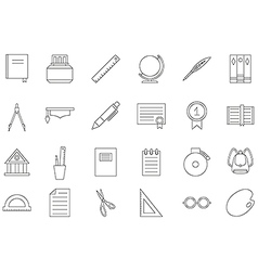 Education black icons set vector image