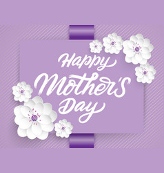 elegant happy mothers day card vector image vector image
