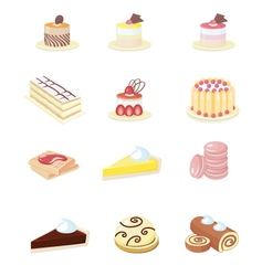 French Pastry vector image