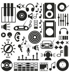 icons music sound vector image
