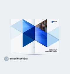 abstract double-page brochure design hexagon style vector image