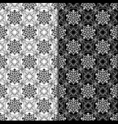abstract seamless pattern black and white set vector image