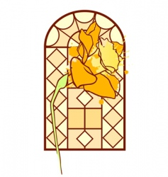 abstract window vector image