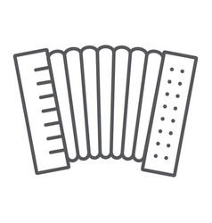 Accordion thin line icon music and keyboard vector