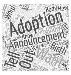 Adoption announcements word cloud concept vector