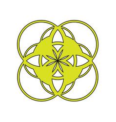 an abstract emblem the logo a symbol consisting vector image