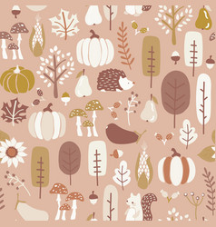 autumn seamless pattern in subtle fall vector image