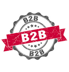 B2b stamp sign seal vector