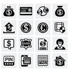 Bank icon set vector