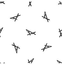 beach chaise pattern seamless black vector image
