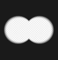 binocular view vector image