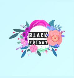 Black friday floral banner vector