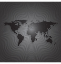 Black world map on dark background textured vector