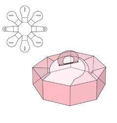 Box die cut vector image