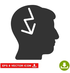 Brain Electric Strike Eps Icon vector image