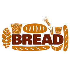 bread and bakery logo vector image