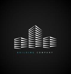 Building company logotype vector image