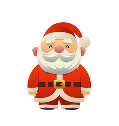 cartoon santa claus holiday character vector image