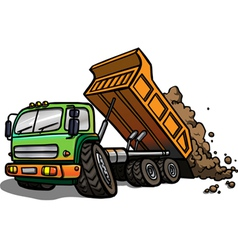 Cartoon tipper truck Isolated vector