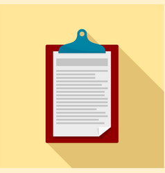 Check paper tax icon flat style vector