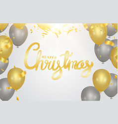 christmas party poster template and happy new vector image